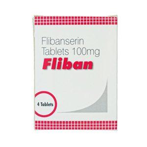 Flibanserin 100mg (4 pills) by Indian Brand