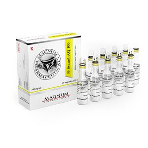 Stanozolol injection (Winstrol depot) 10 ampoules (100mg/ml) by Magnum Pharmaceuticals
