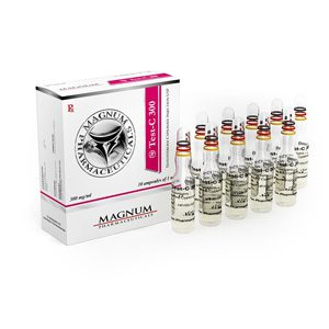 Testosterone cypionate 10 ampoules (300mg/ml) by Magnum Pharmaceuticals