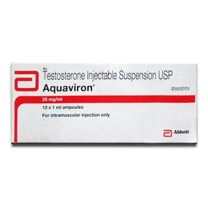 Testosterone suspension 12 ampoules (25mg/ml) by Abbott Healthcare Pvt. Ltd, India