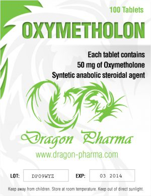 Oxymetholone (Anadrol) 100 tabs (50 mg/tab) by Dragon Pharma