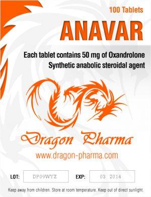 Oxandrolone (Anavar) 50mg (100 pills) by Dragon Pharma