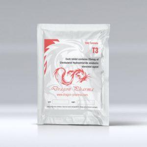 Liothyronine (T3) 25mcg (100 pills) by Dragon Pharma